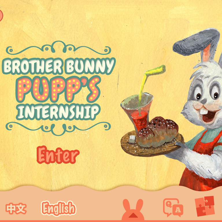 Mobile app mock up video - Brother Bunny PuPu's Internship