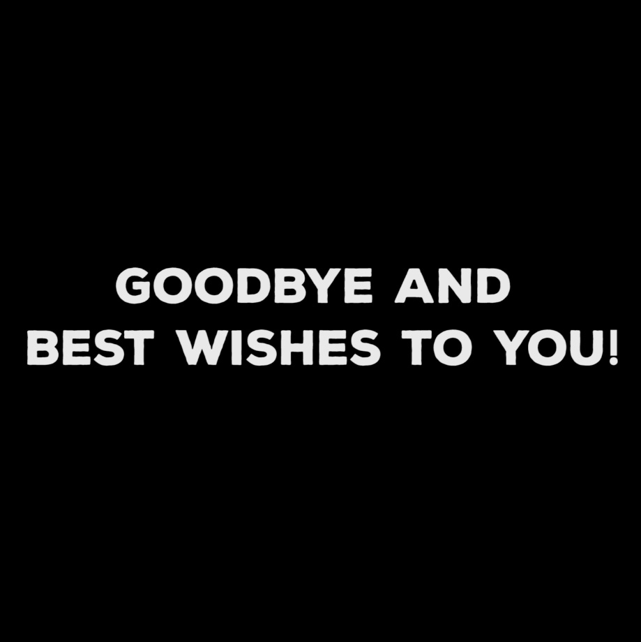 Farewell video for an employee